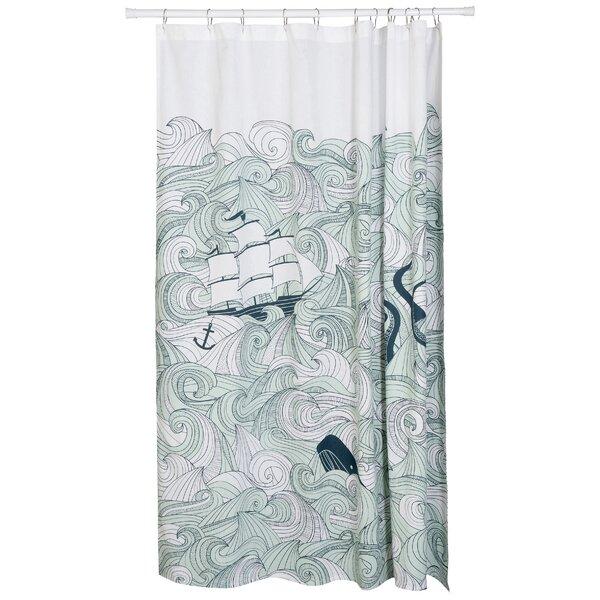 Neasa  100% Cotton Shower Curtain by Longshore Tides